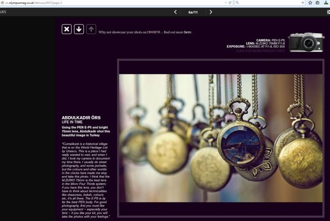 Abdulkadir Örs, OlympusMag UK, Reader's Gallery
