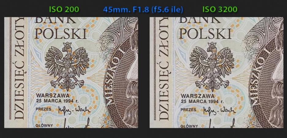 e-PL7 iso200 ve iso 3200 kesit, 45mm. F1.8 ile f5.6'da