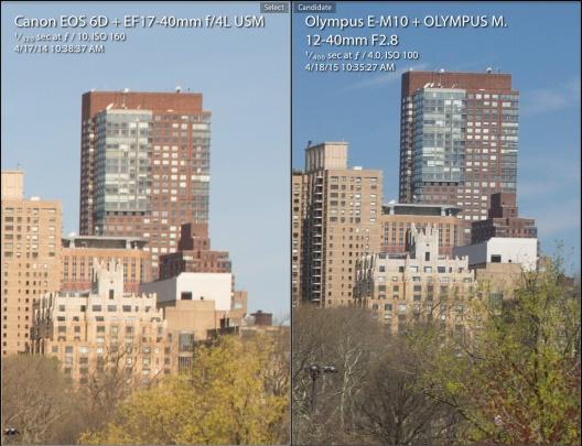 Olympus OM-D E-M10 vs Canon 6D